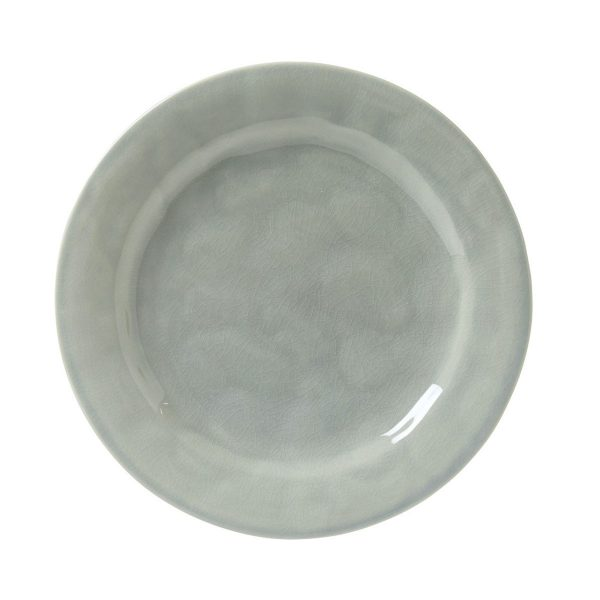 Juliska Puro Mist Grey Crackle Dessert/Salad Plate