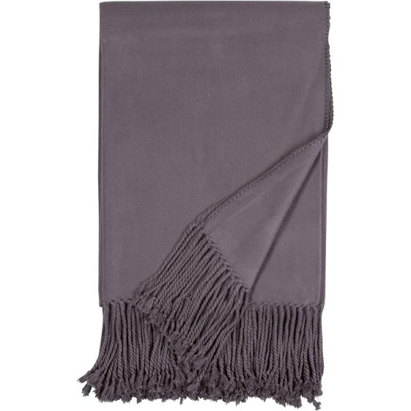 Malibu Luxxe Steel Fringe Throw