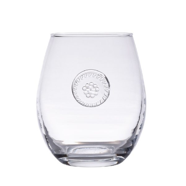Juliske Berry & Thread Stemless White Wine Glass