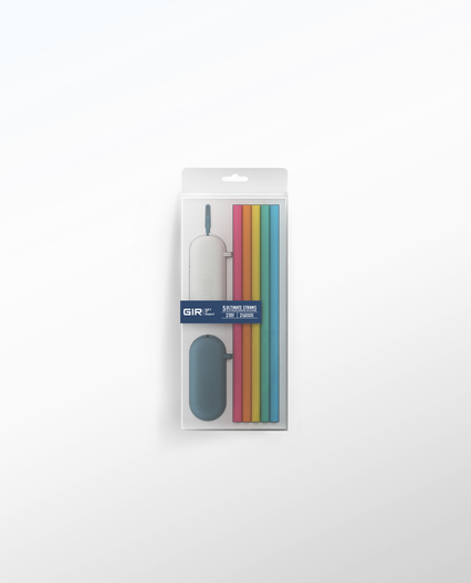 GIR Silicone Straw Set Of 5- Bright