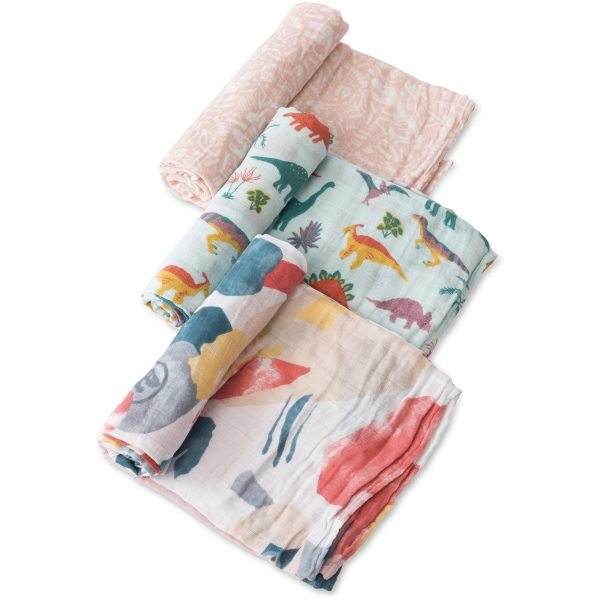 Embroidosaurus 3 Pack Swaddle Set