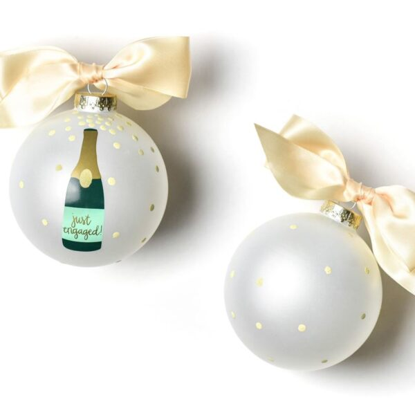 Coton Colors Just Engaged Bottle Ornament