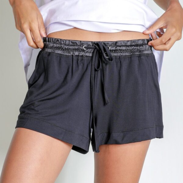 Faceplant Black Shortie Pajama Shorts