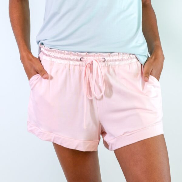 Faceplant Pink Shortie Pajama Shorts