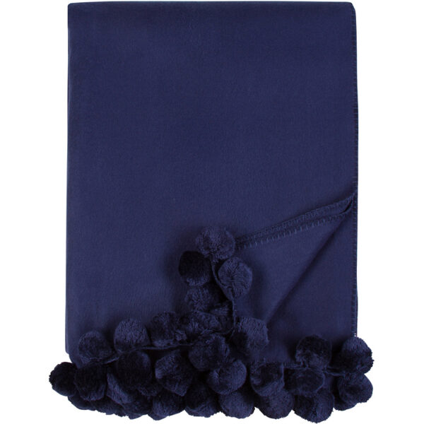 Malibu Luxxe Indigo Pom Pom Throw