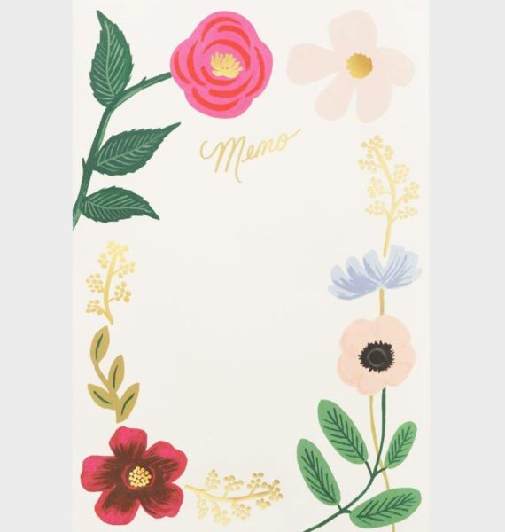 Rifle Paper Wildflower Memo Notepad