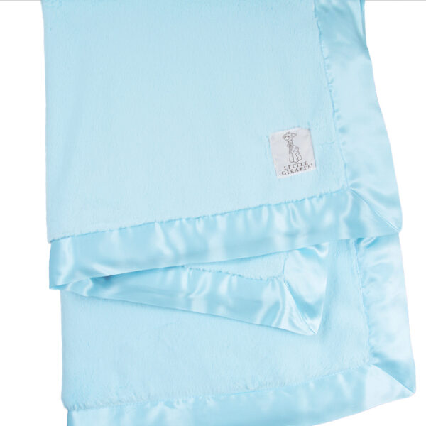Little Giraffe Luxe Blanket-Aqua