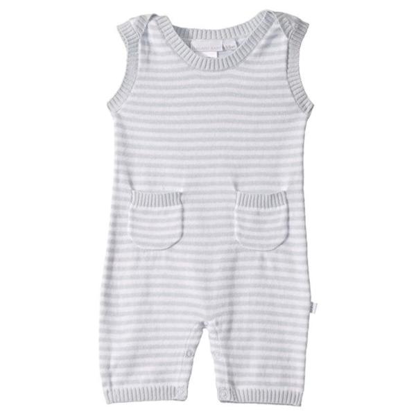 Elegant Baby Blue Knit Shortall
