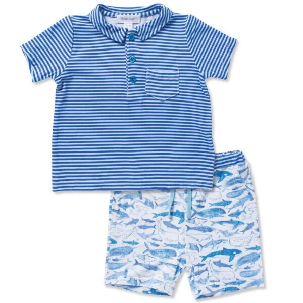 Angel Dear Deep Sea Top And Shorts Set