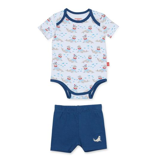 Magnetic Me Petit Marin Onesie/ Short Set