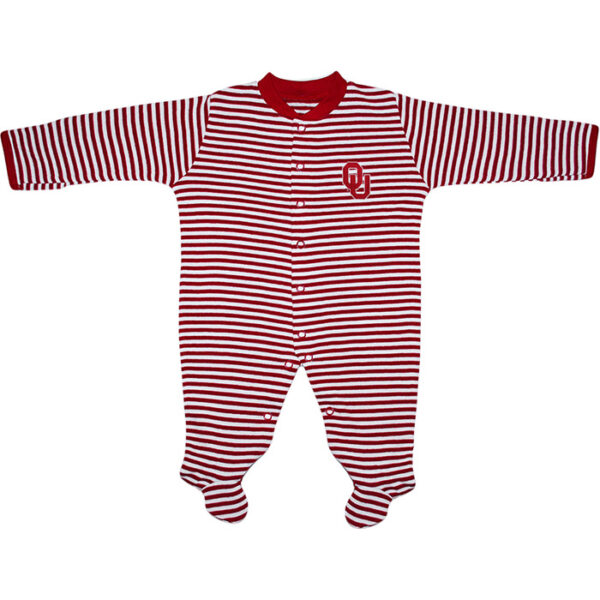 OU Striped Footed Romper