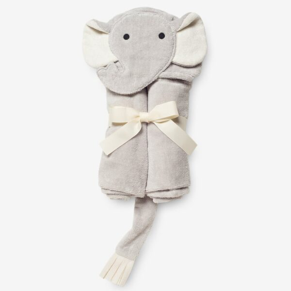Elegant Baby Hooded Towel- Elephant