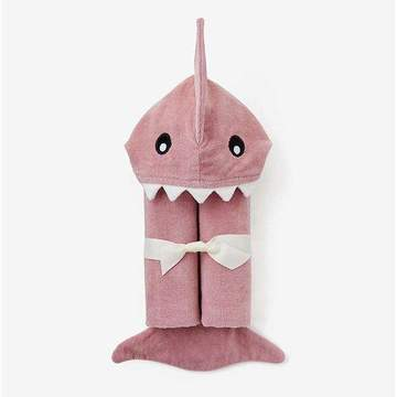 Baby Shark Hooded Towel- Mauve
