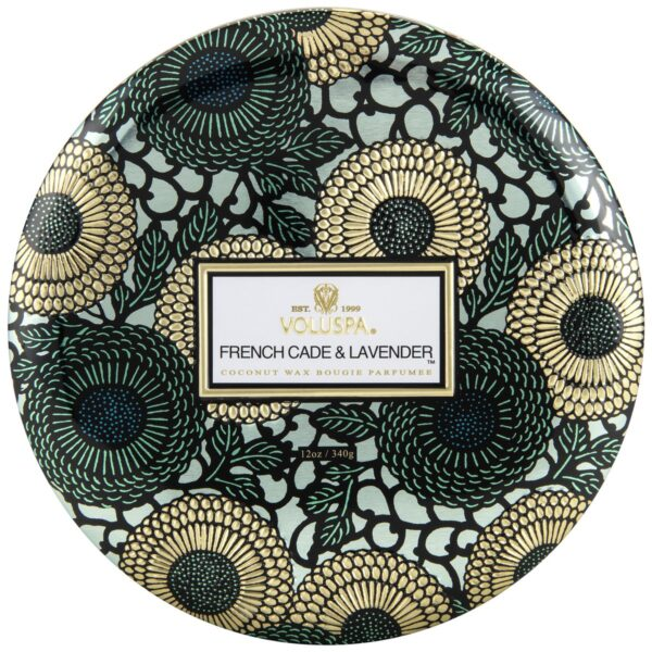 Voluspa French Cade Lavender 3-wick Tin Candle