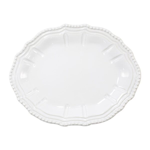 Incanto Stone Baroque Small Oval Platter