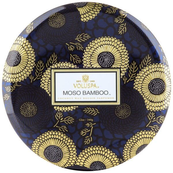 Voluspa Moso Bamboo 3-wick Tin Candle