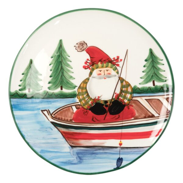 Old St. Nick Round Fishing Platter