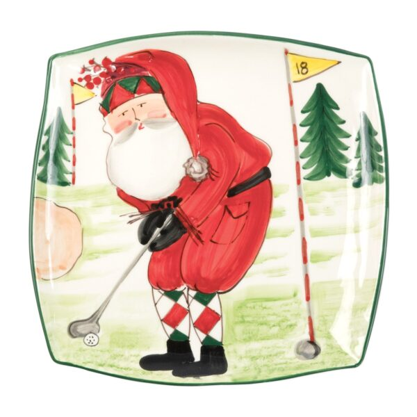 Old St. Nick Square Golf Platter