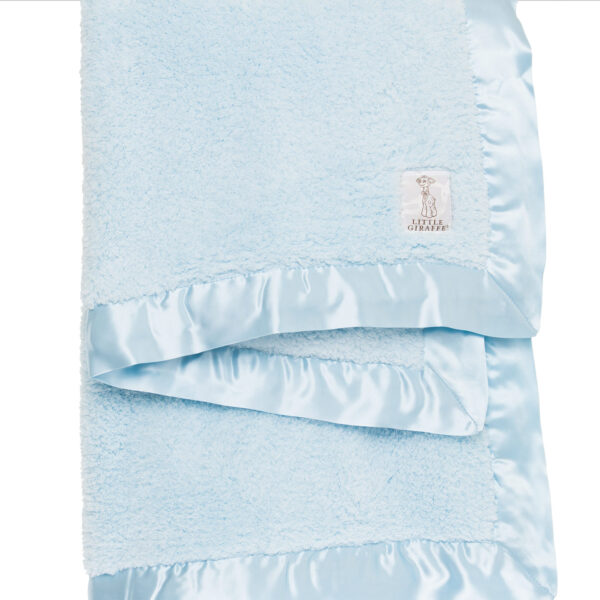 Little Giraffe Chenille Baby Blanket- Blue