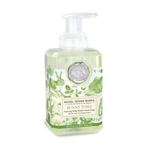 Bunny Toile Foaming Soap