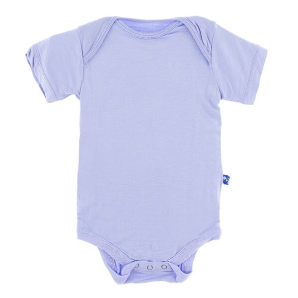 Kickee Pants Basic Short Sleeve Onesie- Lilac