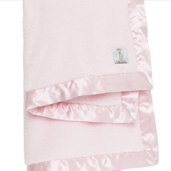 Little Giraffe Chenille Baby Blanket- Pink