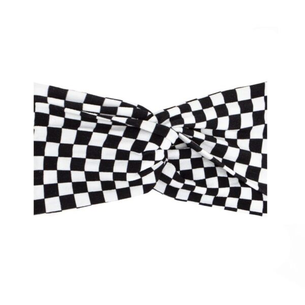 Printed Twist Bow- Checkmate