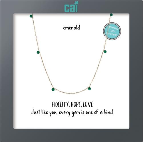 CAI Emerald Gold Necklace
