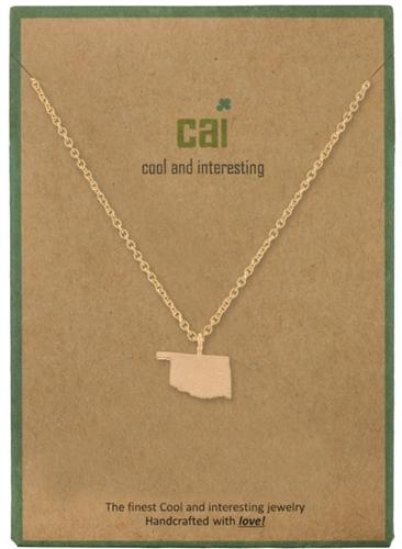 CAI Gold Oklahoma Necklace
