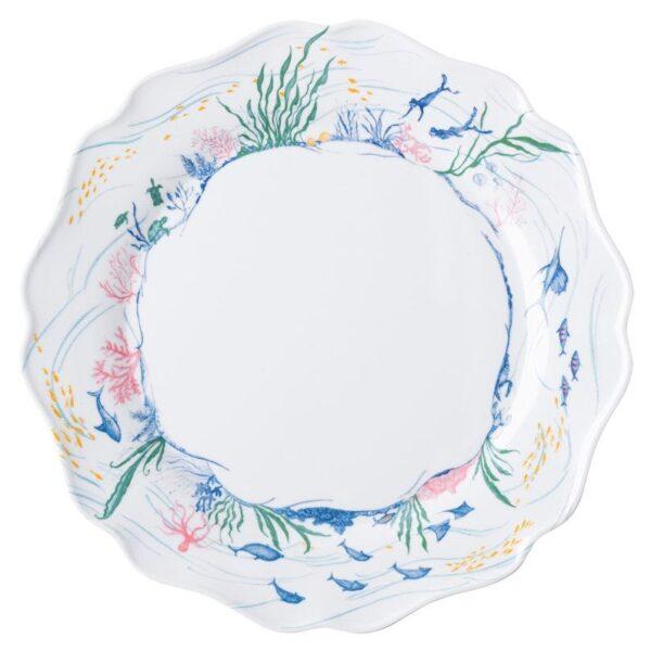 Country Estate Seaside Melamine Dinner Plate