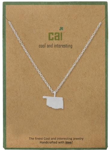CAI Silver Oklahoma Necklace