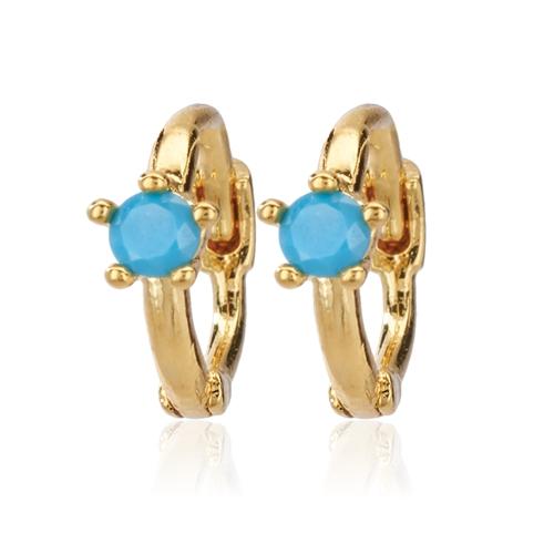 CAI Turquoise Single Stone Huggie Earrings