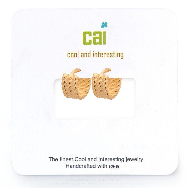 CAI Triple Twisted Huggie Earrings