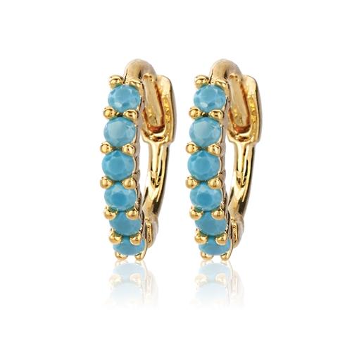 CAI Turquoise Half Round Huggie Earrings