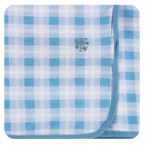 Kickee Blue Moon Plaid Swaddle