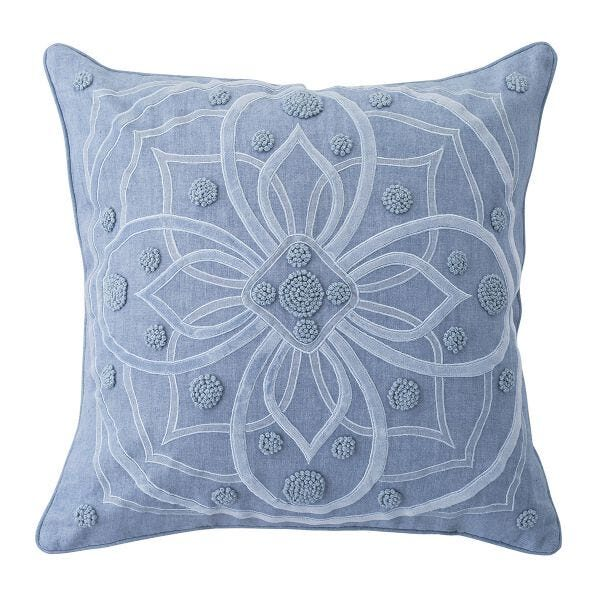 Berry & Thread Chambray Pillow