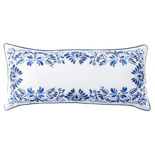 Iberian Journey Indigo Lumbar Pillow