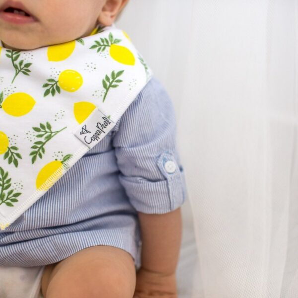Copper Pearl Lemon Bandana Bib