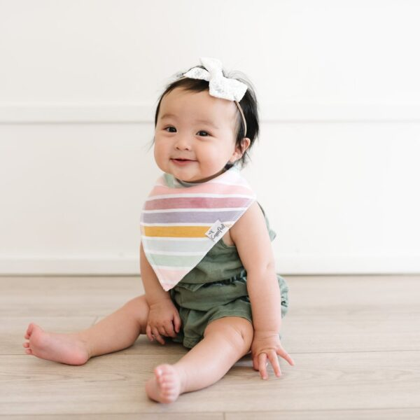 Copper Pearl Colorful Stripe Bandana Bib