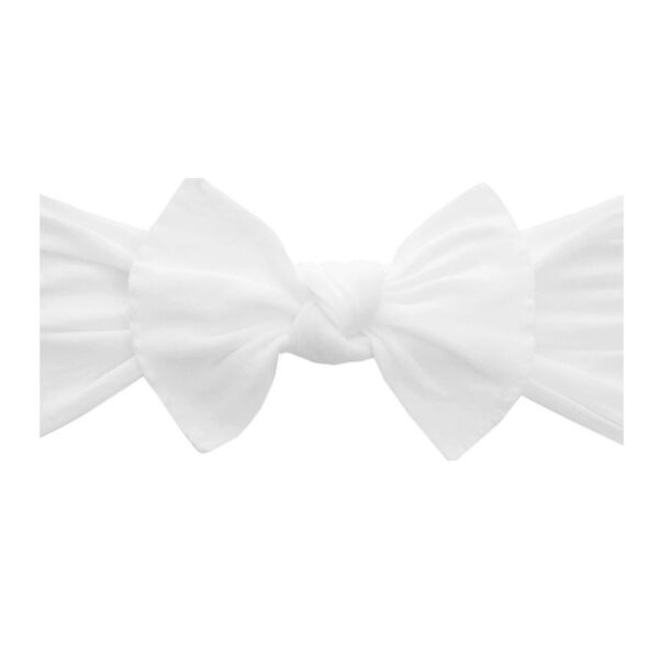 Baby Bling White Knot Headband