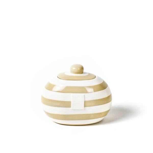 Neutral Stripe Mini Cookie Jar