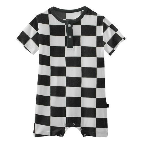 Kickee Pants Checkered Henley