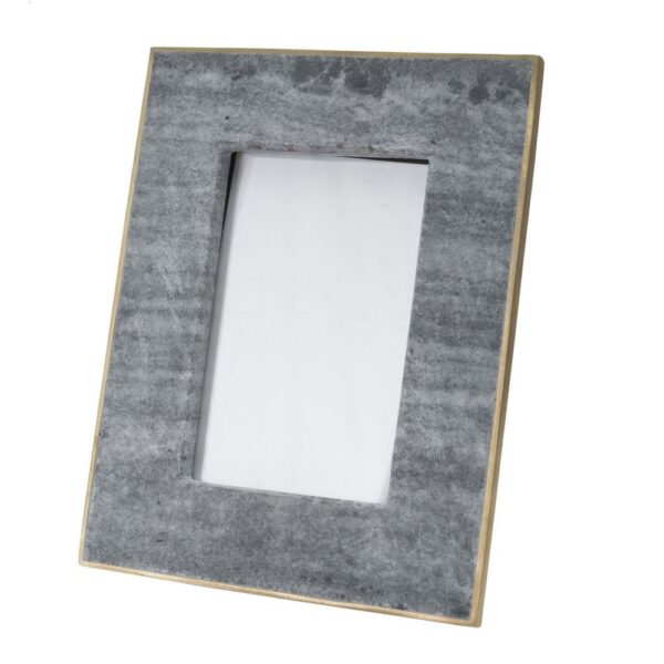 BIDK 4×6 Black Marble & Brass Frame