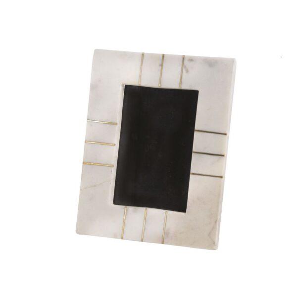 BIDK 4×6 White Marble & Brass Frame