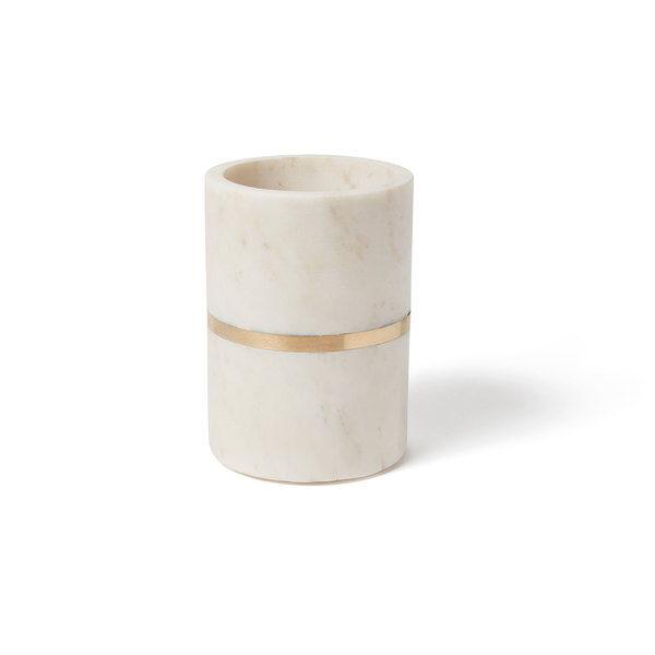 Marble & Brass Utensil Crock